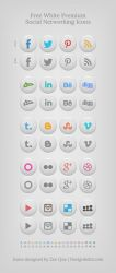 Free White Premium Social Networking Icons by Designbolts