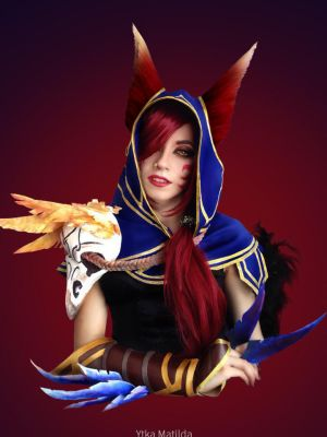 Xayah cosplay progress by Ytka Matilda by YtkaMatilda