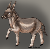 8-13-18: Little donkey boi by Bimisi