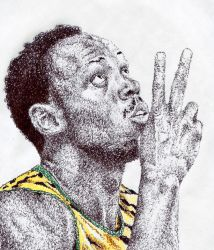 Usain Bolt (Scribble) by TomCatKid