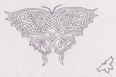 Celtic Butterfly Tattoo by EatBurgersUpsideDown