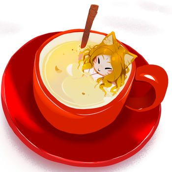 Cat girl in a cup by drowtales