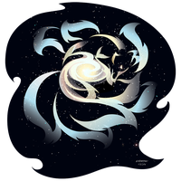 Galactic Kitsune by RHPotter