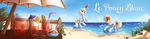 Le Poney Blanc summer banner by DivLight