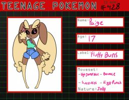 Paige Lopunny application by Trash-queen-puffy