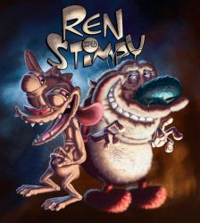 Ren and Stimpy by DragonicDarkness