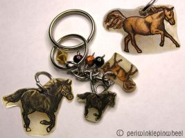 Horse Key Chain by periwinklepinwheel