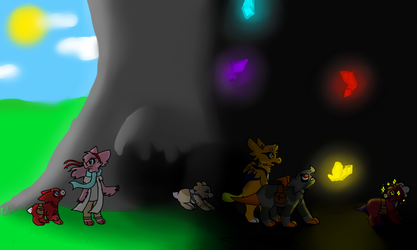 Cave Group by TopazOwl