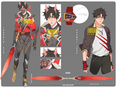 [AB PACK] INUROID RED by CemarAdopts