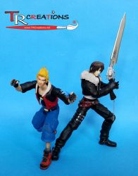 Final Fantasy VIII Zell and Squall Play Arts by zelu1984