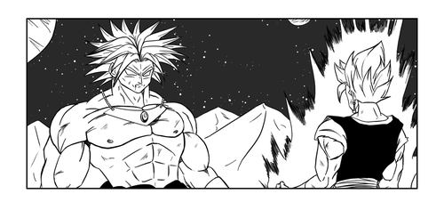Broly vs Vegeto by ChibiDamZ