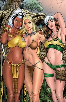 Storm - Shanna - Rogue -Savage Land by roncolors