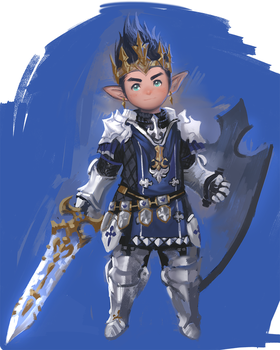 lalafell knight by yy6242