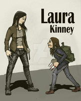 X23 meet X-23 (Laura Kinney and Laura Kinney) by james2work