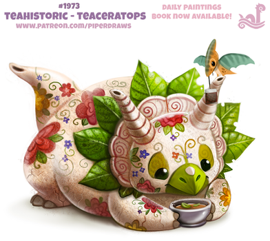 Daily Paint 1973# Teahistoric - Teaceratops by Cryptid-Creations