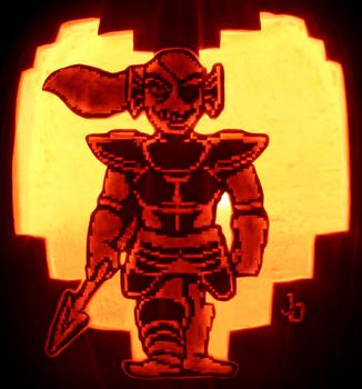 Just Because She Can - Undyne Pumpkin by johwee