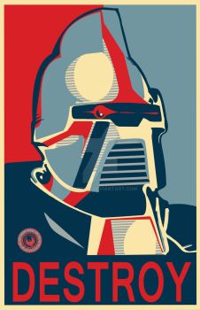 Cylon (Shepard Fairey) by j2Artist