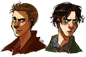 Sam and Dean by ElisEiZ