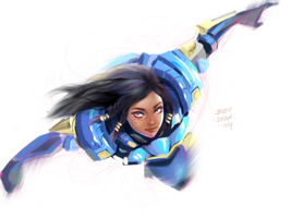 Overwatch Pharah by beendrawing