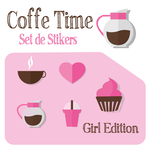 Mini Stickers Set - COFFE TIME by WFpeonix