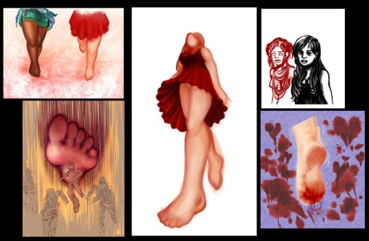 The Plot-thickens! A big ole sheet of WIPs by Eh-Lora