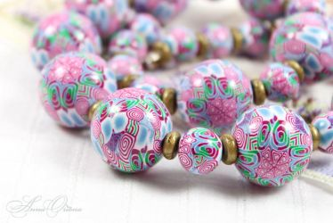 Polymer clay beads by OrionaJewelry