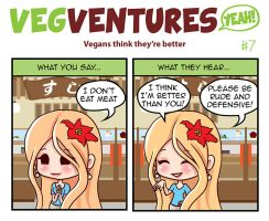 VV7: Vegans think they're better by Pupavegan