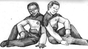 Geordi and Data by jameson9101322