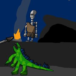 ancient skeleter by ShaunBones42