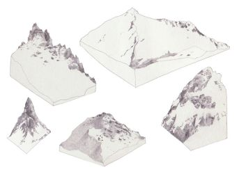 Isometric mountains GO by drawingsbycharlotte