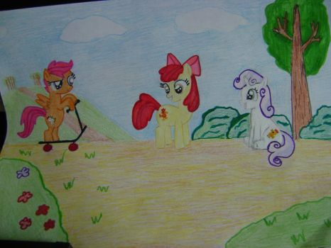Chicken Mark Crusaders or Cutie Mark Chickens by jabhub