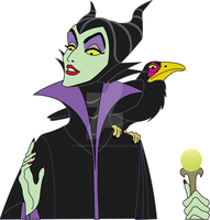 Maleficent - Vectorized by RadiantCharizard