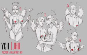 [CLOSED] 5 YCH (Valentine's day)auction | JHU by JHUffizi