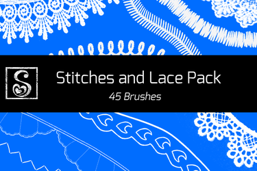 Shrineheart's Stitches and Lace Pack - 45 Brushes by Shrineheart