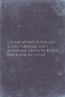 Not Afraid, Billy The Kid Quote Variant I by romancer