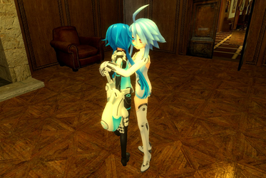 White Heart Hugs Next White by ruben999