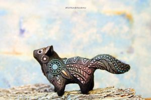 Cat Totem Figurine by nicsadika