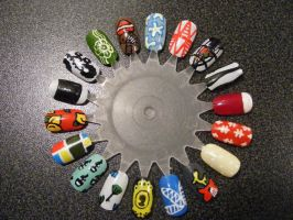 3 nail art wheels by kimmmy on deviantart nail art wheel 3 by kimmmy prinsesfo Image collections