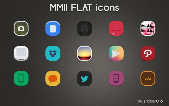 MMII FLAT Icons Preview by stalker018