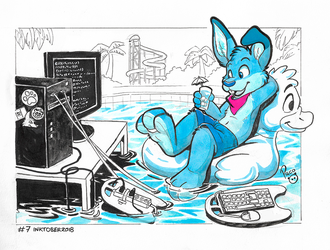 NSFW #Inktober2018 Day 7: Compiling by pandapaco