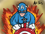 Captain America with Background by alexsalinasiii