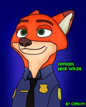 Officer Nick wilde by carloscraft27