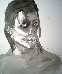 self portrait drawing 5 by hinstarsion