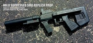 HALO Suppressed SMG Replica Prop by JohnsonArmsProps