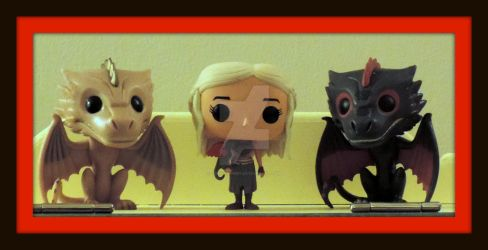 Daenerys, Viserion, And Drogon by LoriLynnM89