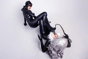 Black Cat vs Catwoman cosplay 7 by TinOmenOgre