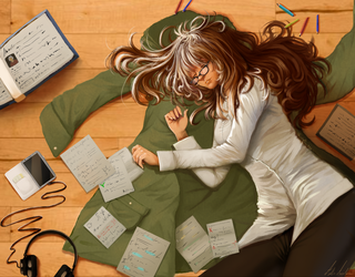 Peace and exams by apolline555