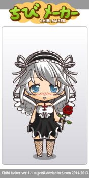 Me as a maid(2) by LucarMoonshadow12345