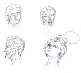 Sketches done in school - Heads practice by IRCSS