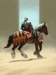 Knight study by Hominid-9